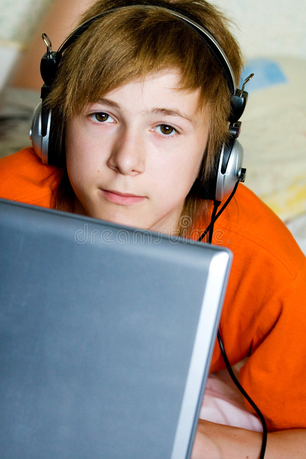 Serious teenager stock photography