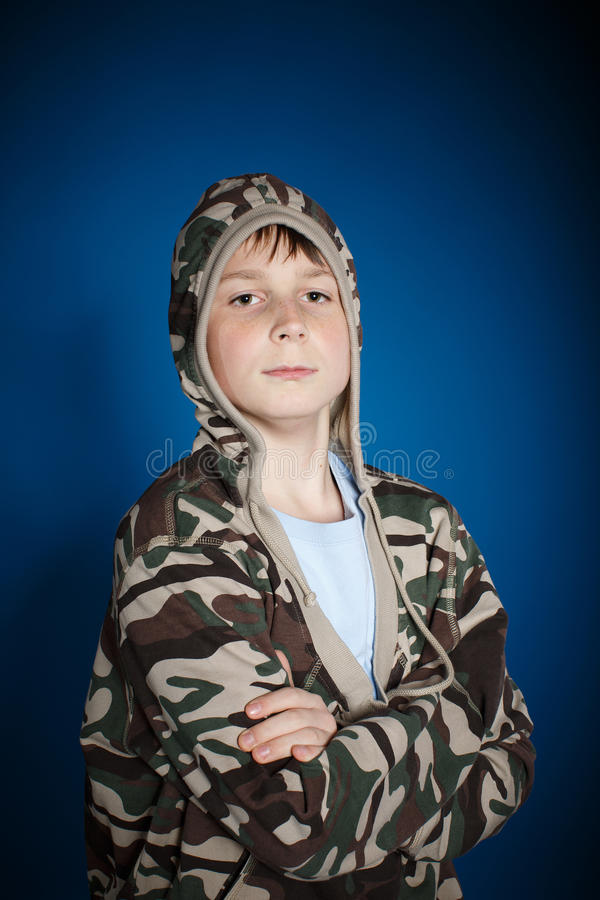 Serious teenager stock photo