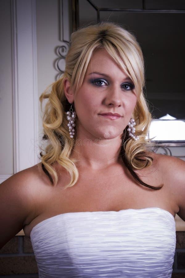 Serious woman stock photos