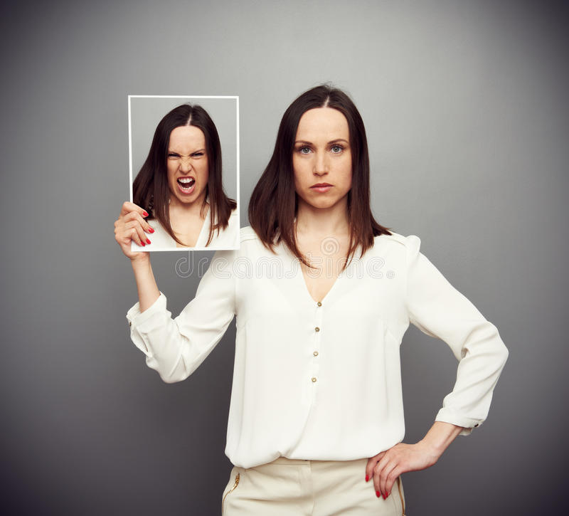 Download Serious woman angry inside stock photo. Image of woman - 30414682
