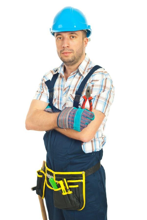 Serious worker man