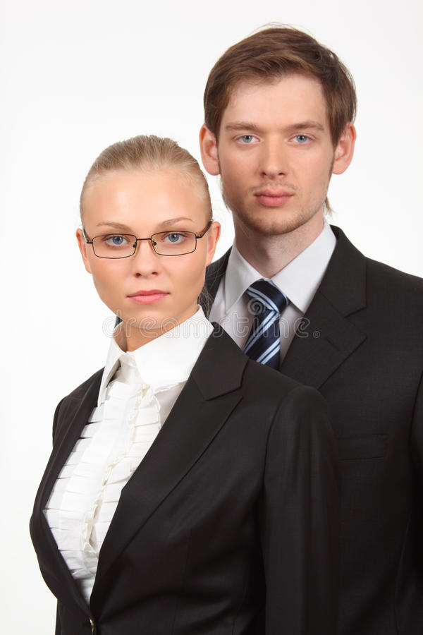 Download Serious Young Business Woman And Businessman Stock Image - Image: 10353877