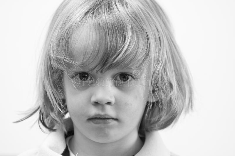 Download Serious Young Cute Caucasian Boy Stock Image - Image: 9509583