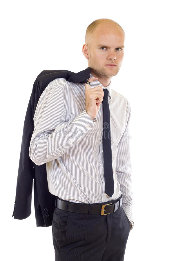 Download Serious Young Man  With Coat On Shoulde Stock Image - Image: 12918425