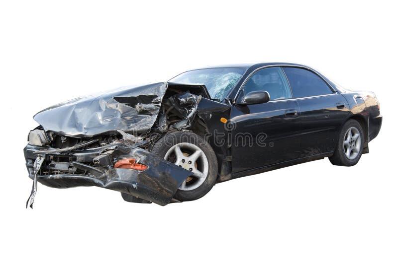 Seriously damaged car stock photo