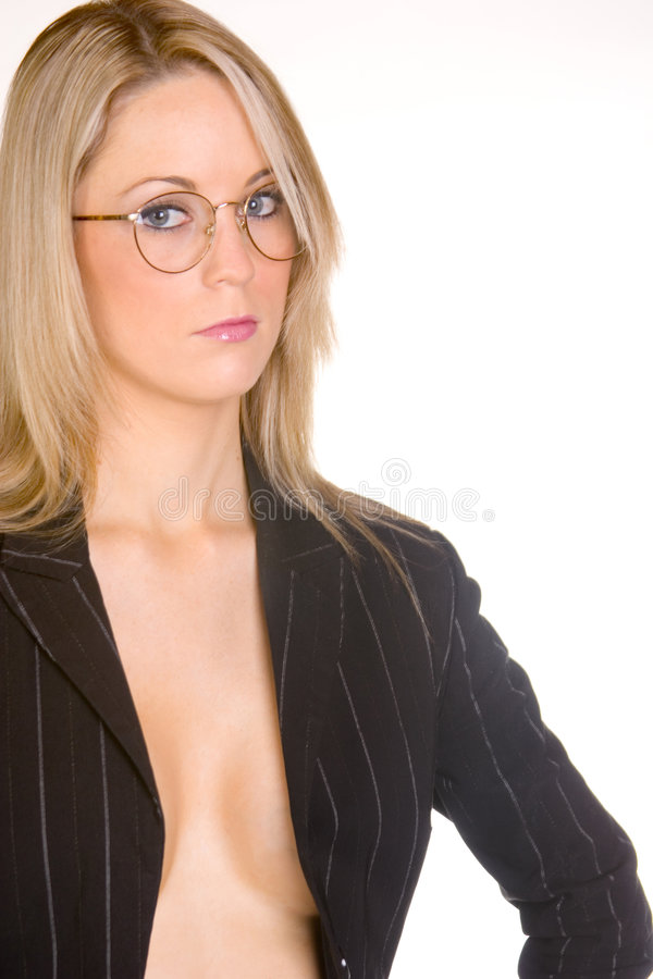 Download Seriously stock photo. Image of girl, female, serious, glasses - 129532