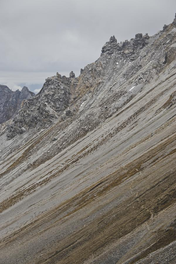 Serles. Hiking trail at Serles mountain, Stubaital, Tirol, Austria stock images