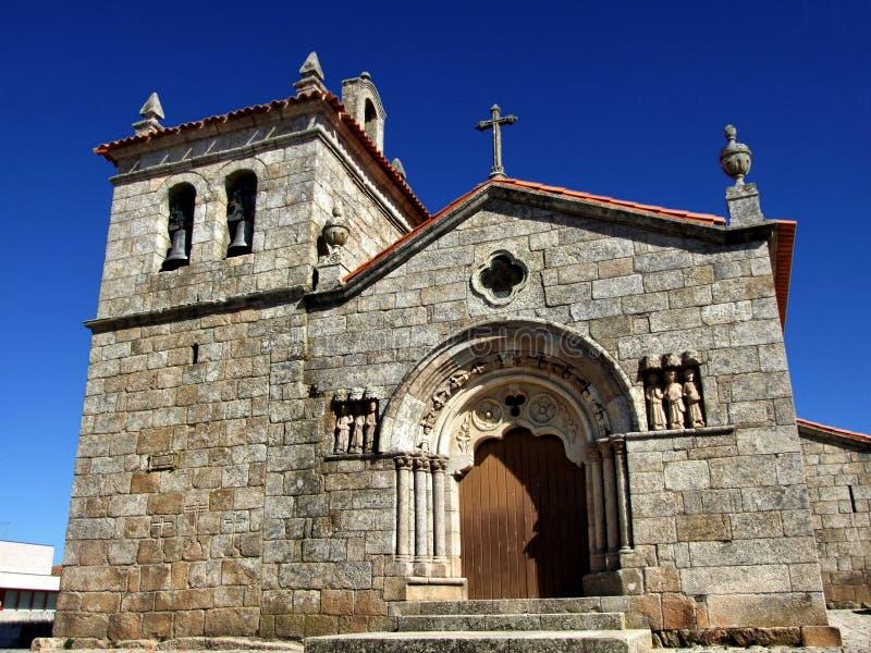 Sernancelhe church. Romanesque church of Sernacelhe, a historical village in Portugal royalty free stock photography