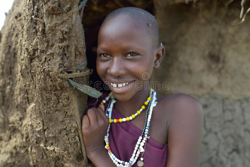 Seronera, Tanzania, Luty 12, 2016: Maasai kobiety zdjęcie royalty free