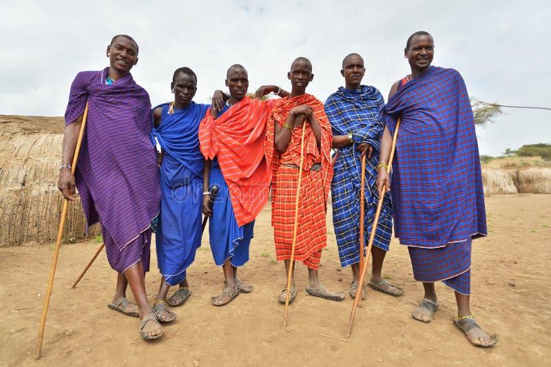 Seronera, Tanzanie, le 12 février 2016 : La vie dans un village de Maasai images libres de droits