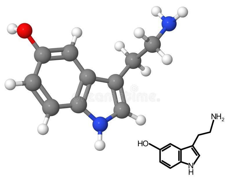Serotonina illustrazione di stock
