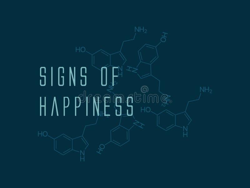 serotonine royalty-vrije illustratie