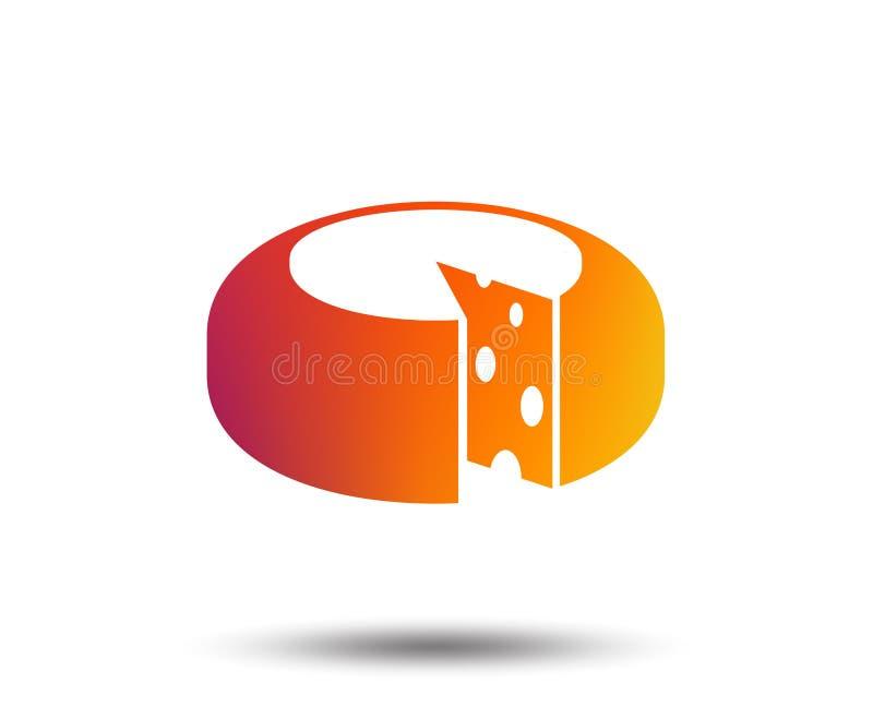 Serowa koło znaka ikona Pokrojony ser ilustracja wektor