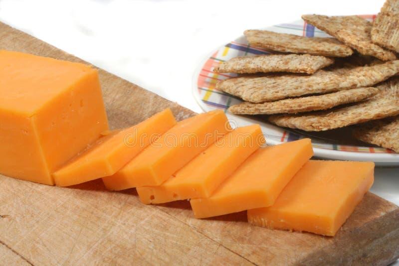serowe krakersy zdjęcie stock