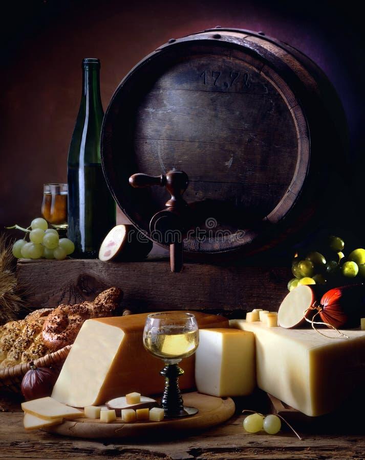 serowego życia spokojny wino zdjęcia royalty free
