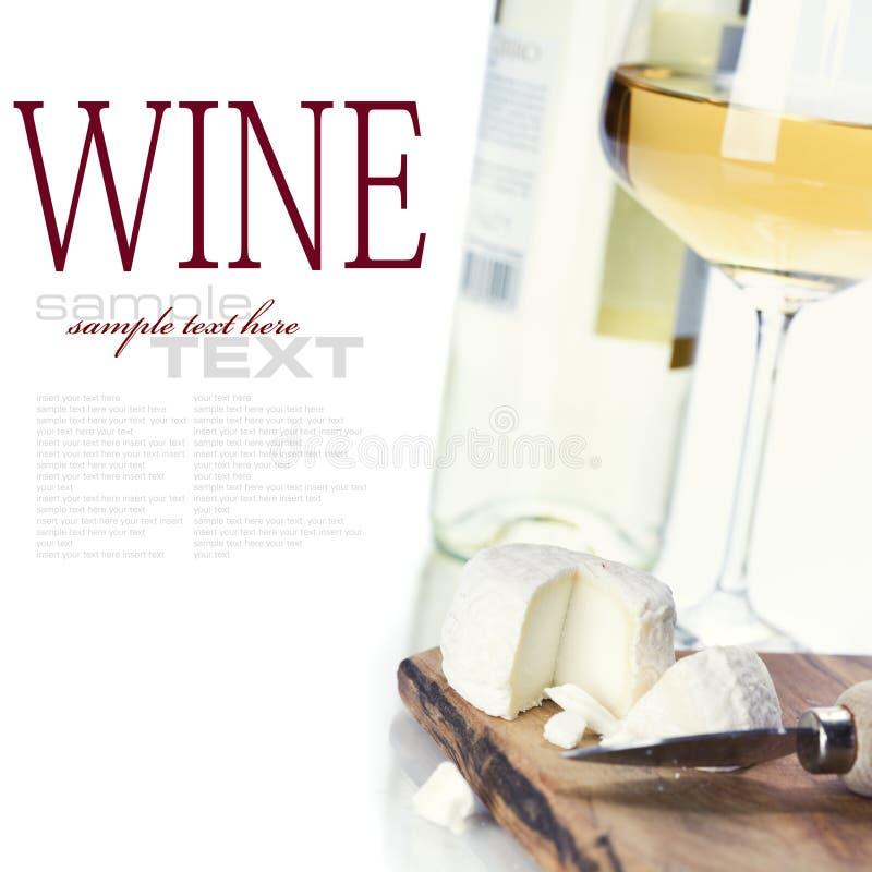 serowy biały wino obraz royalty free
