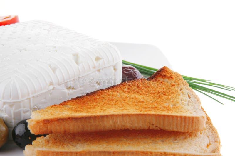 serowy feta talerza biel obrazy royalty free