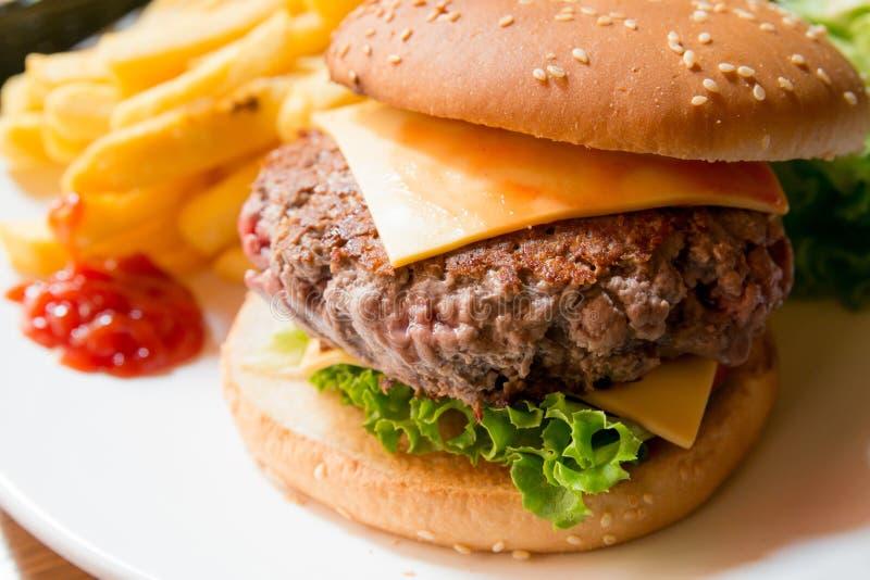 Serowy hamburger fotografia royalty free