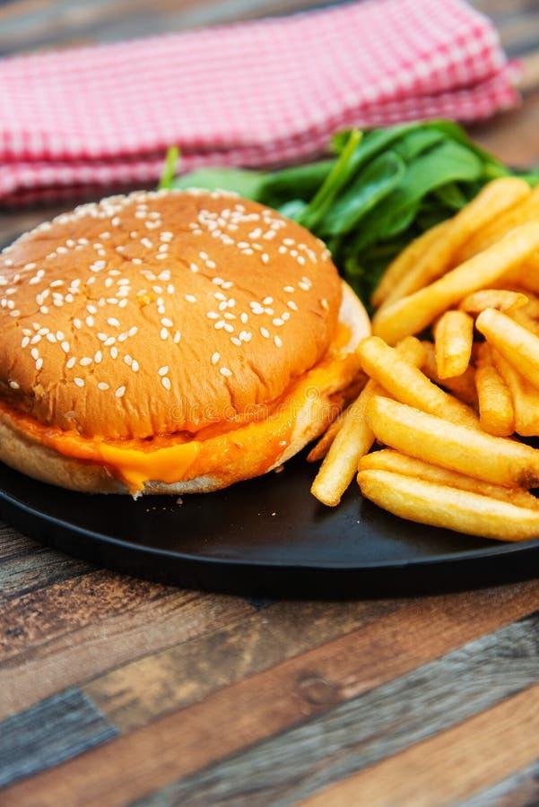 Serowy hamburger obraz stock