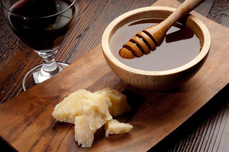serowy miodowy parmesan obraz stock