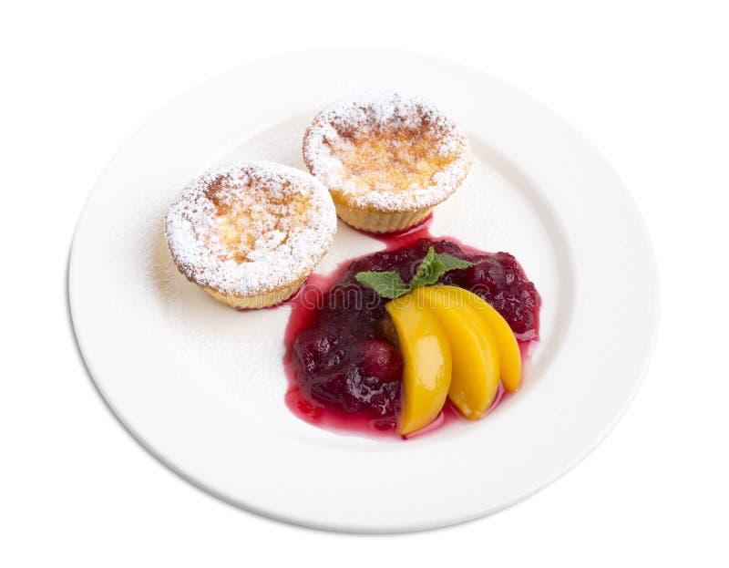 Serowy słodka bułeczka z cranberry kumberlandem obraz royalty free