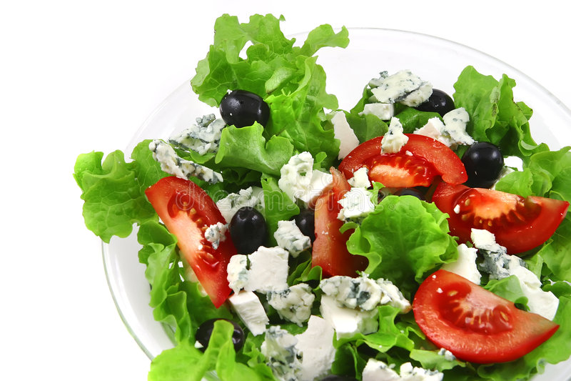 serowy sałatkowy warzywo obraz stock