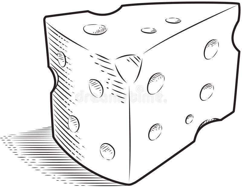 serowy szwajcar ilustracji