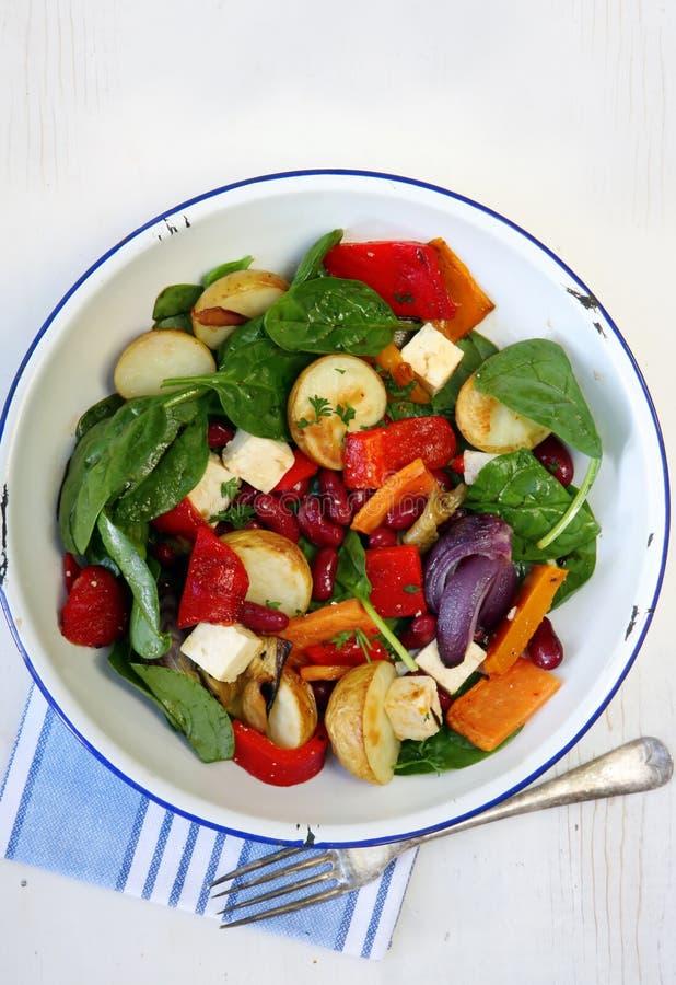 serowy warzyw sałatkowy fasoli zdjęcie stock