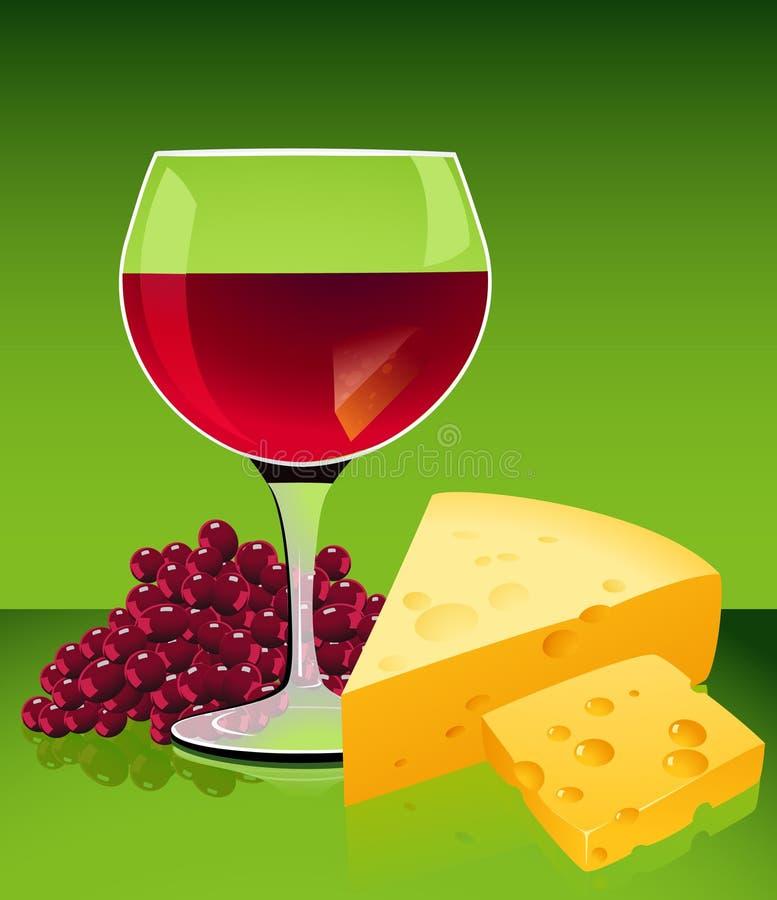 serowy wino ilustracja wektor