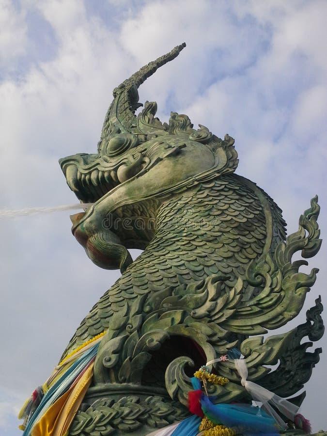 Serpant verde no porto de Songkhla Tailândia foto de stock royalty free
