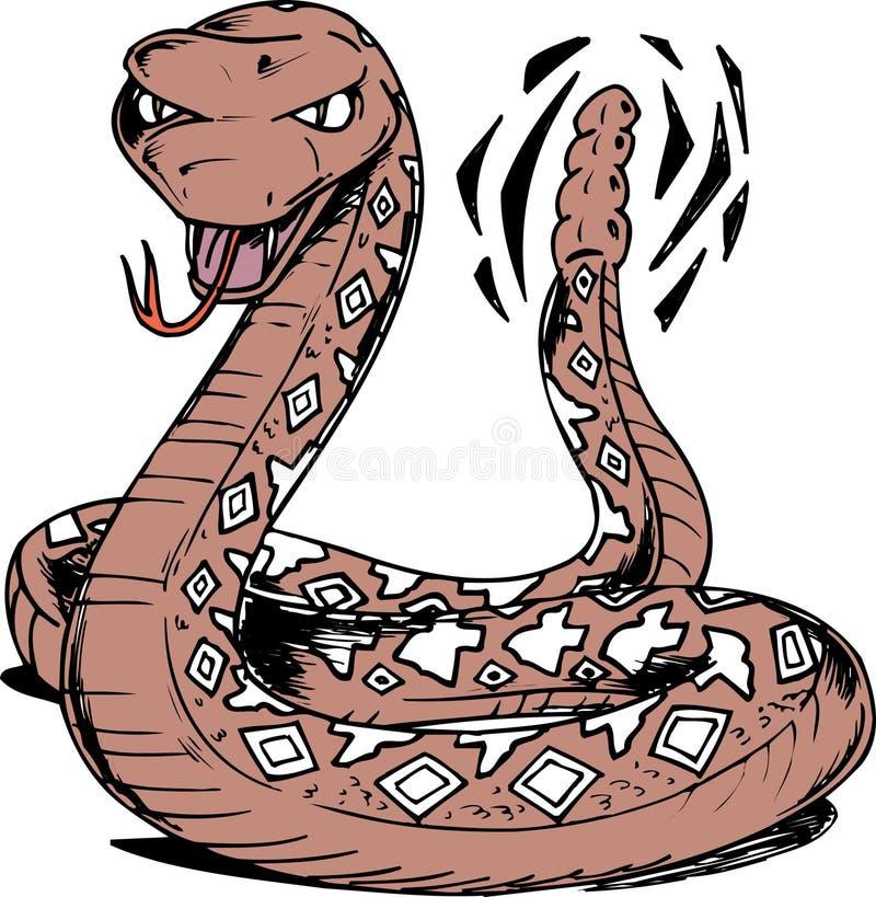 Serpent à sonnettes du Texas illustration de vecteur