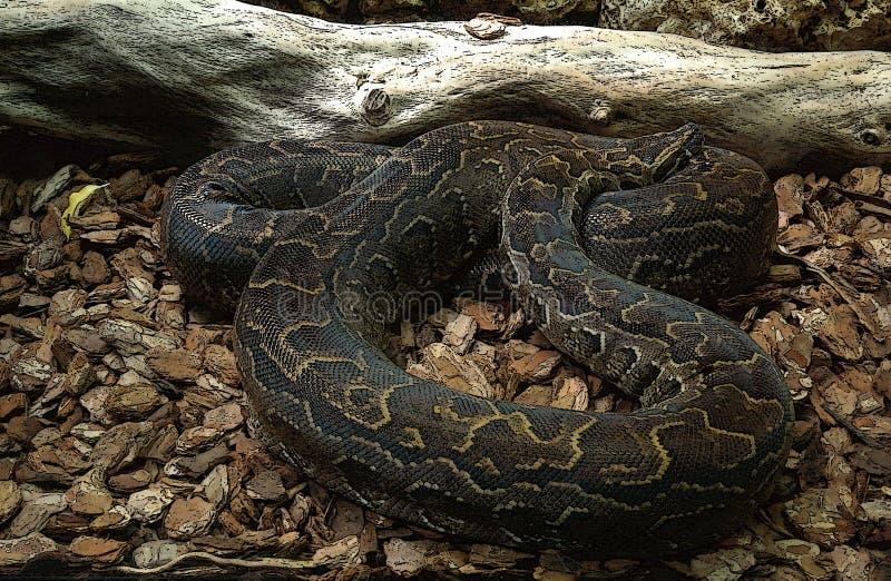 Serpent avec l'effet d'art photo libre de droits