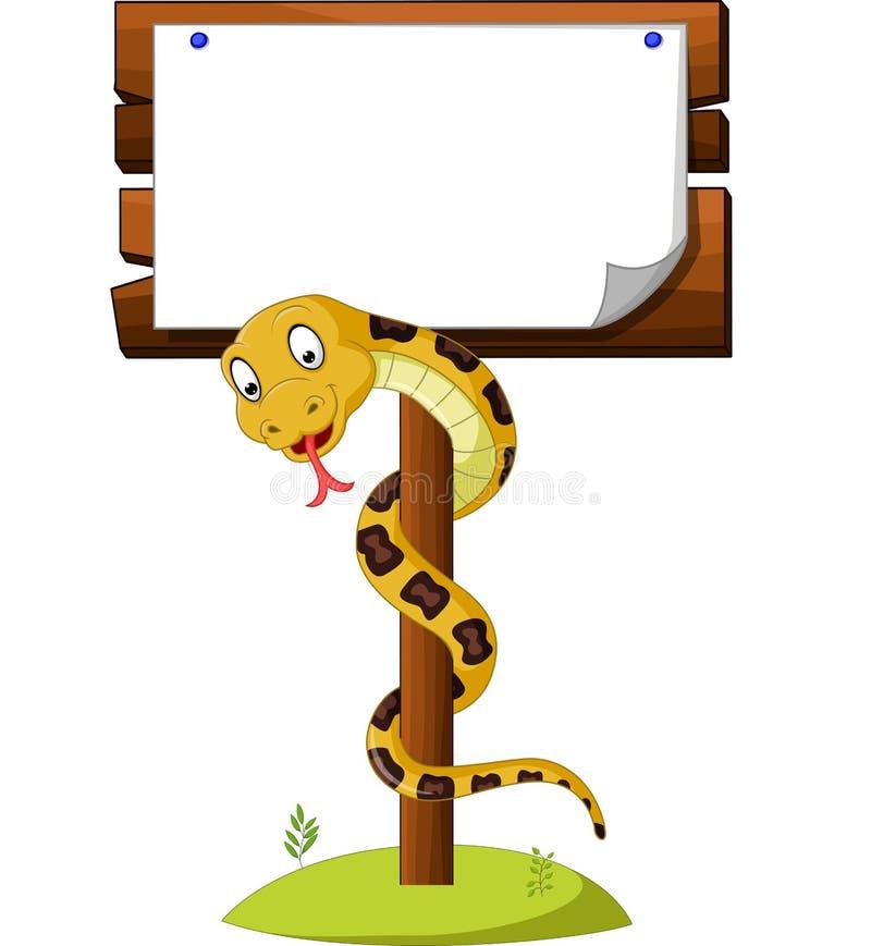 Serpent brun de bande dessinée illustration stock