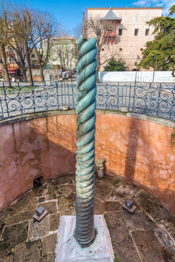 Serpent column in Istanbul stock photos