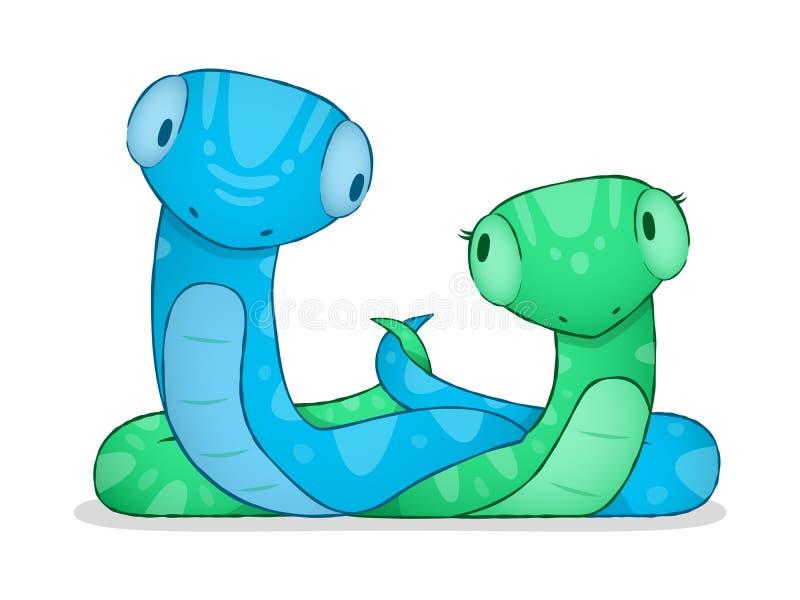 Serpent de dessin animé illustration libre de droits
