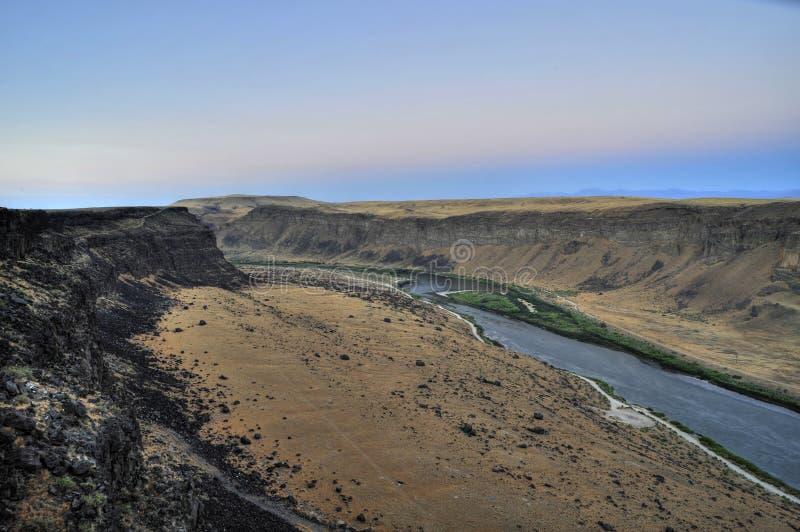 serpent de fleuve de l'Idaho de gorge photo libre de droits