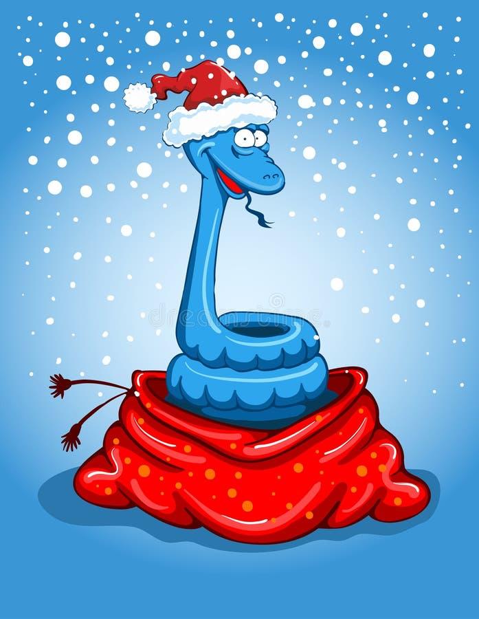 Serpent de Noël illustration de vecteur