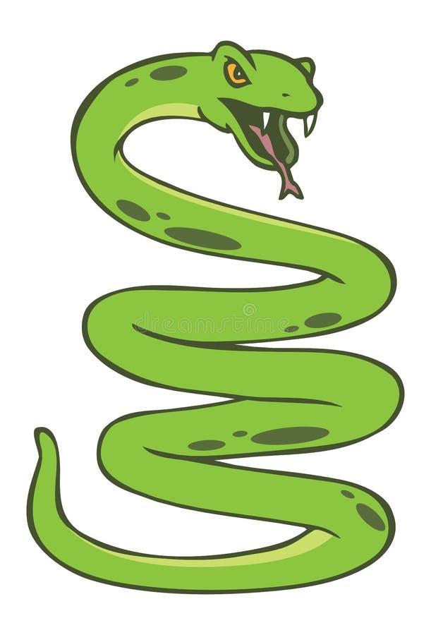 Serpent enroulé illustration libre de droits