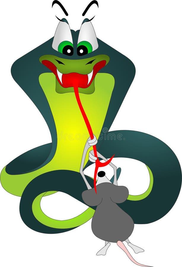 Serpent et souris illustration libre de droits