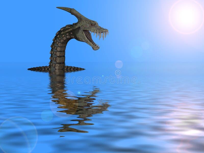 Serpent géant de klaxon illustration stock