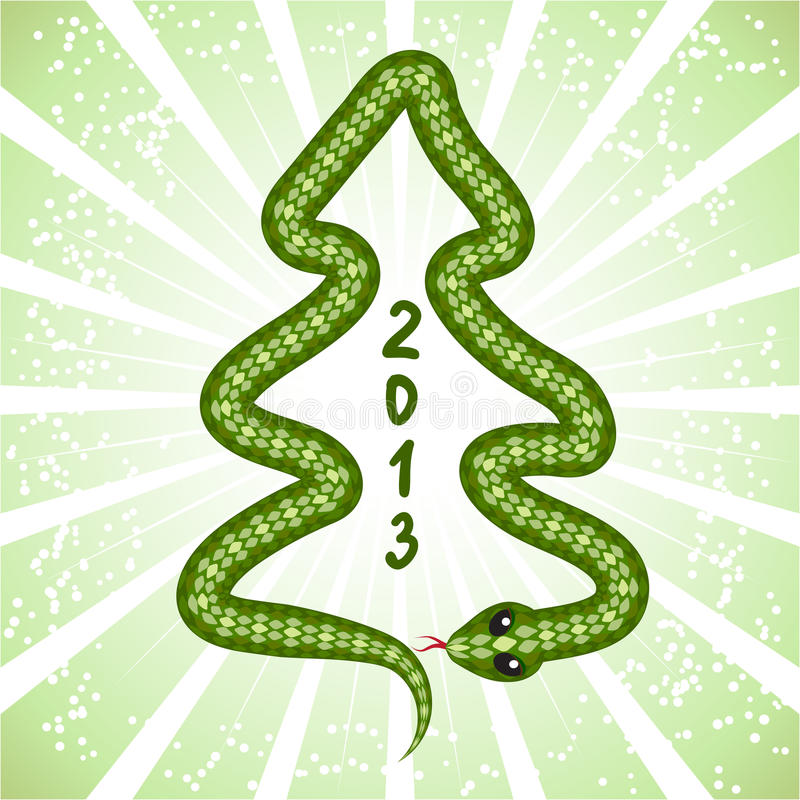 Serpent mignon (symbole de 2013 ans) illustration libre de droits