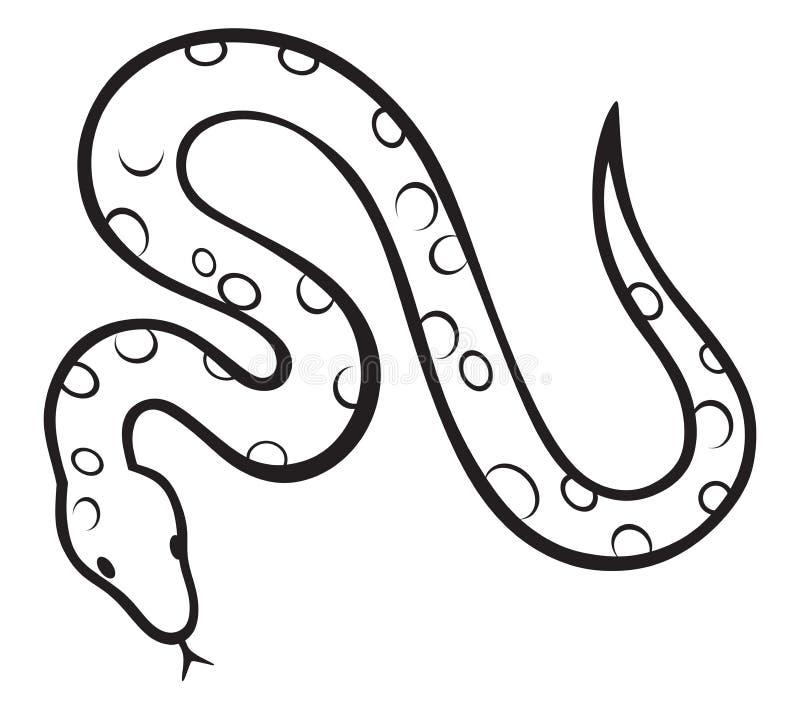 Serpent noir illustration de vecteur