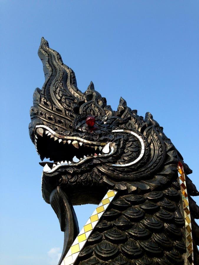 Download Serpent Noir, Dragon Thaïlandais De Style Image stock - Image du antique, prière: 87703641