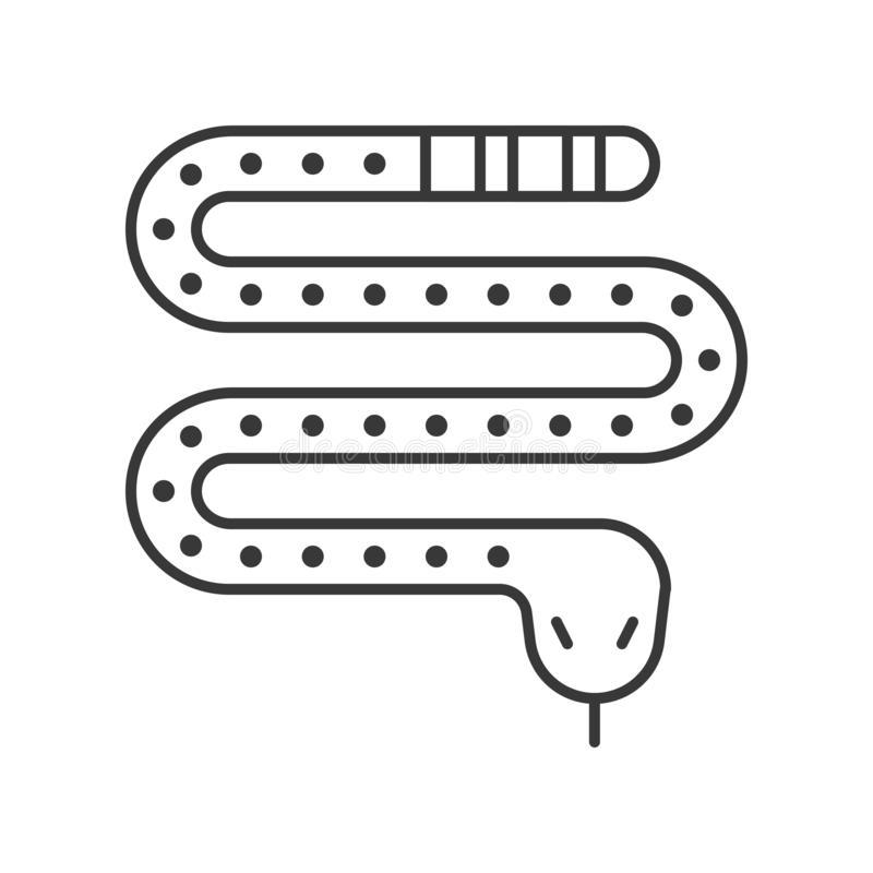 Serpent toxique, ensemble d'icône de caractère de Halloween, course editable illustration de vecteur