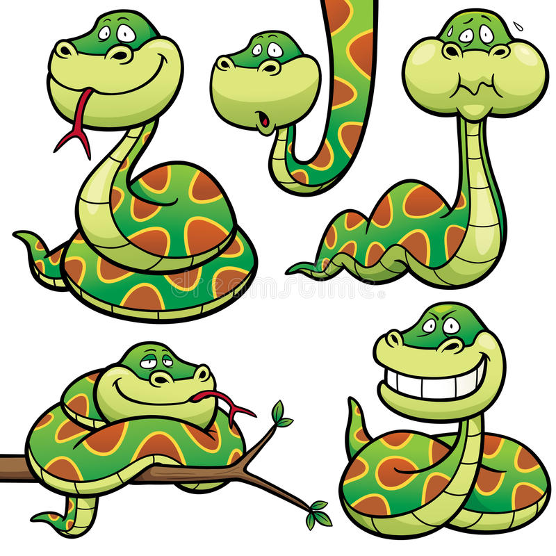 Serpente ilustração royalty free
