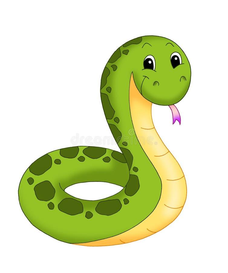 Serpente agradável ilustração royalty free