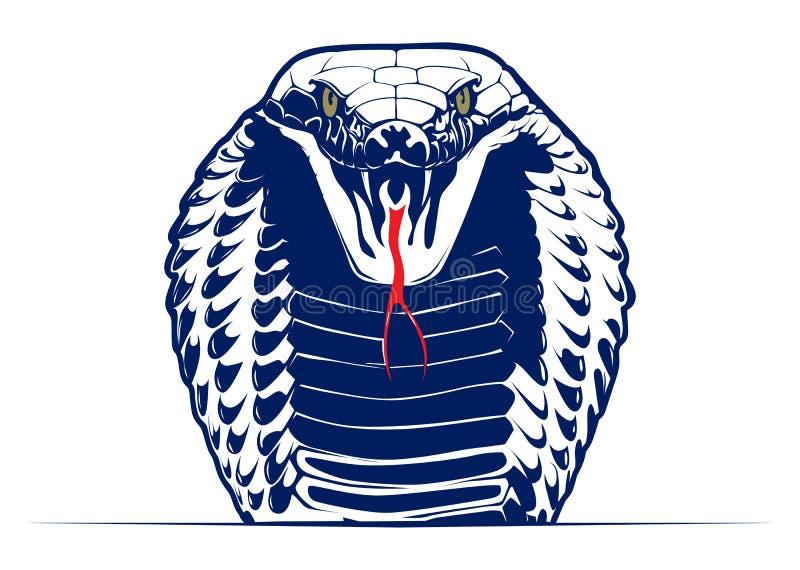 Serpente da cobra ilustração royalty free