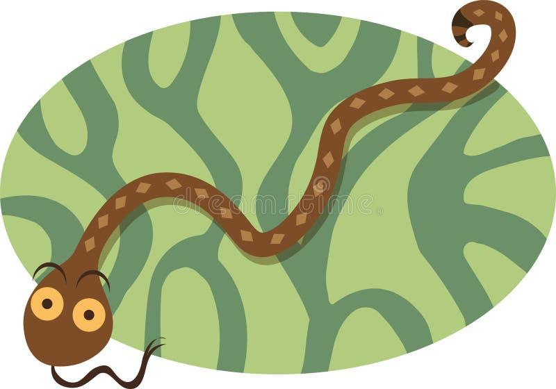 Serpente da selva ilustração royalty free