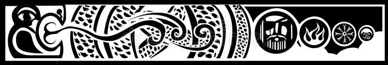 Serpente de Midgard ilustração stock