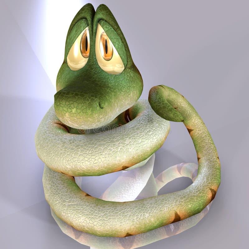 Serpente de Toon ilustração do vetor